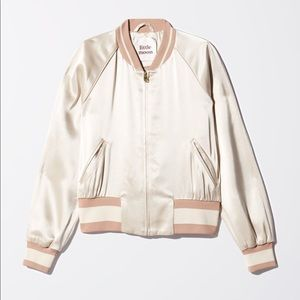 Wilfred little moon silk bomber jacket size large